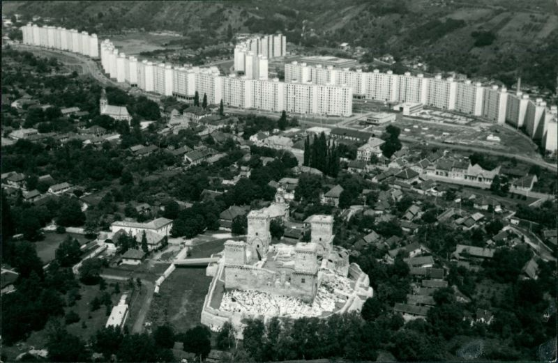 Diósgyőr-Miskolc   (Miškovec/Miszkolc) Luftaufnahme   Wohnhaus-Siedlung 1960