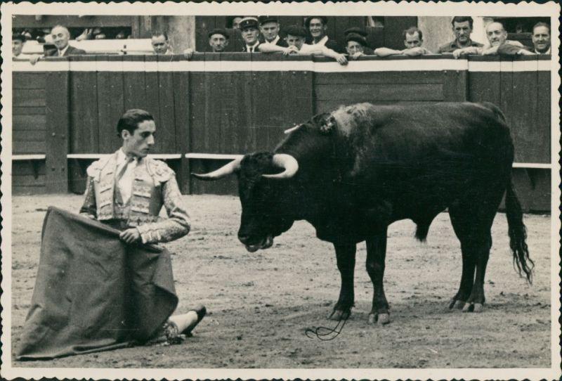 Ansichtskarte  Stierkampf, Torero Miquel Baez