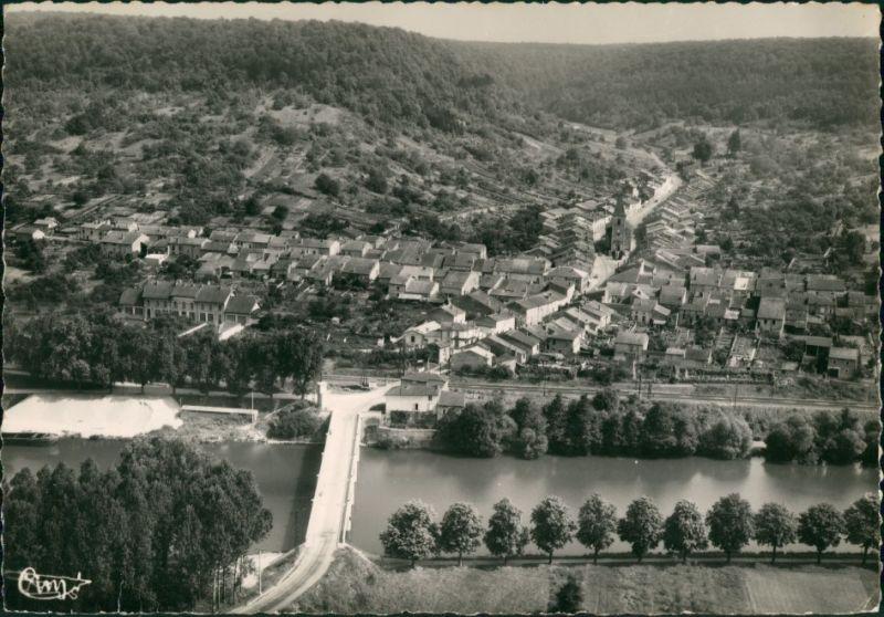 Maron Le Pont sur la Moselle  Luftaufnahme mit Mosel Brücke 1960 0