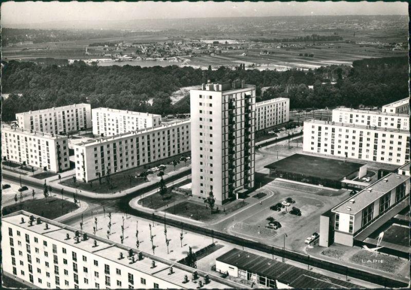 CPA Poissy Vue Aérienne/Luftaufnahme Wohnblocks, Wohnhäuser 1963 0