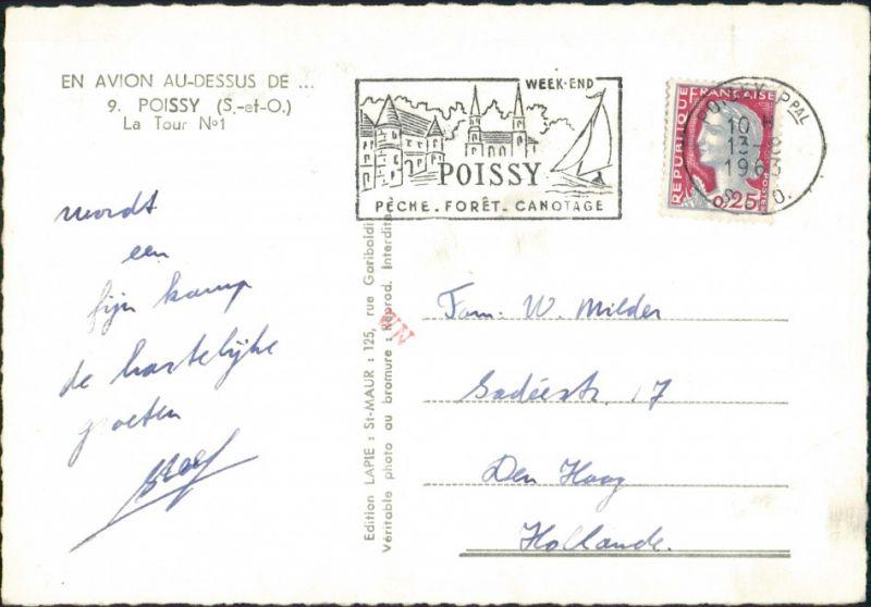 CPA Poissy Vue Aérienne/Luftaufnahme Wohnblocks, Wohnhäuser 1963 1