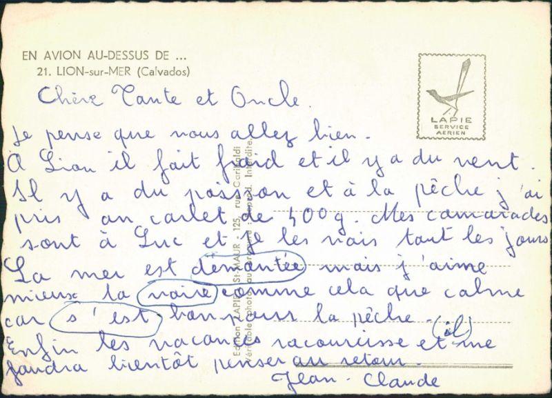 Lion-sur-Mer Vue aérienne, Camping/Luftaufnahme Campingplatz  1960 1