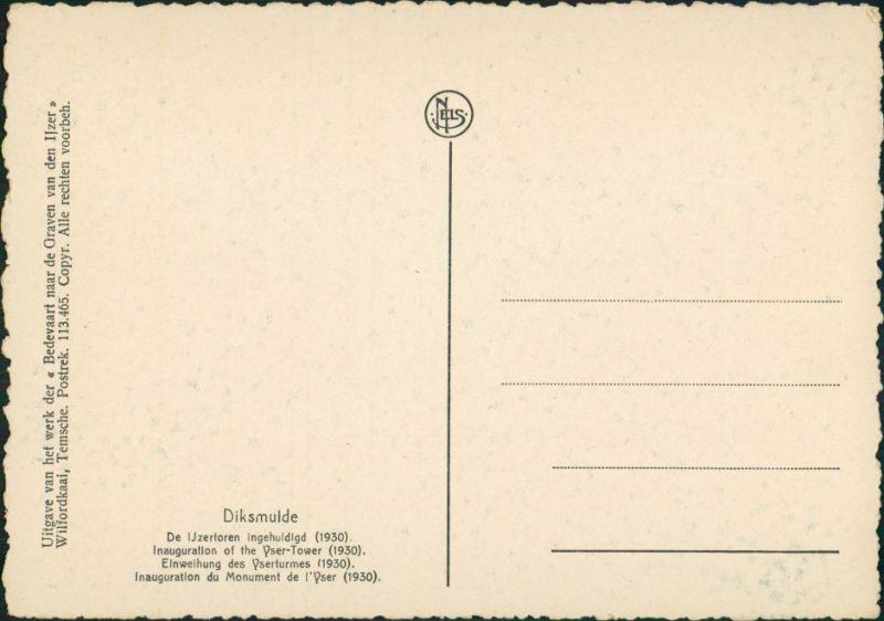 Diksmuide Dixmude Inauguration Yser-Tower/Einweihung des Yser-Turm 1930 1