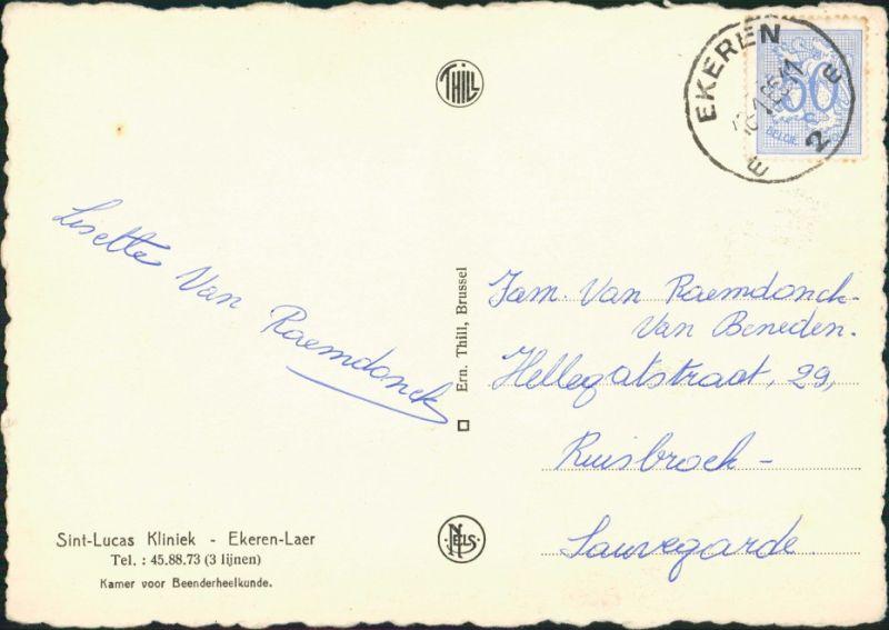Antwerpen Anvers Sint Lucas Kliniek Ekeren-Laer/Operationssaal Krankenhaus 1965 1