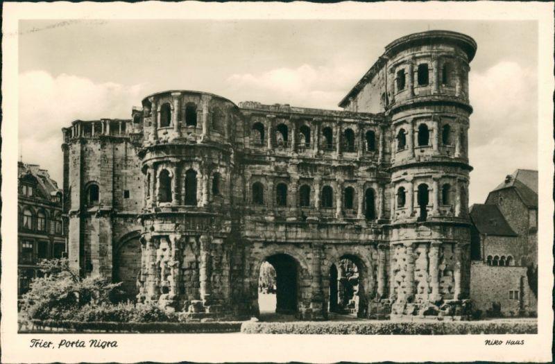 Ansichtskarte Trier Porta Nigra, Römisches Stadttor, Römer Bauten 1935