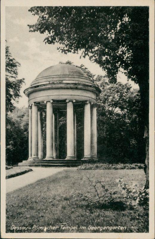 Dessau-Dessau-Roßlau Römischer Tempel im Georgengarten, Park 1951