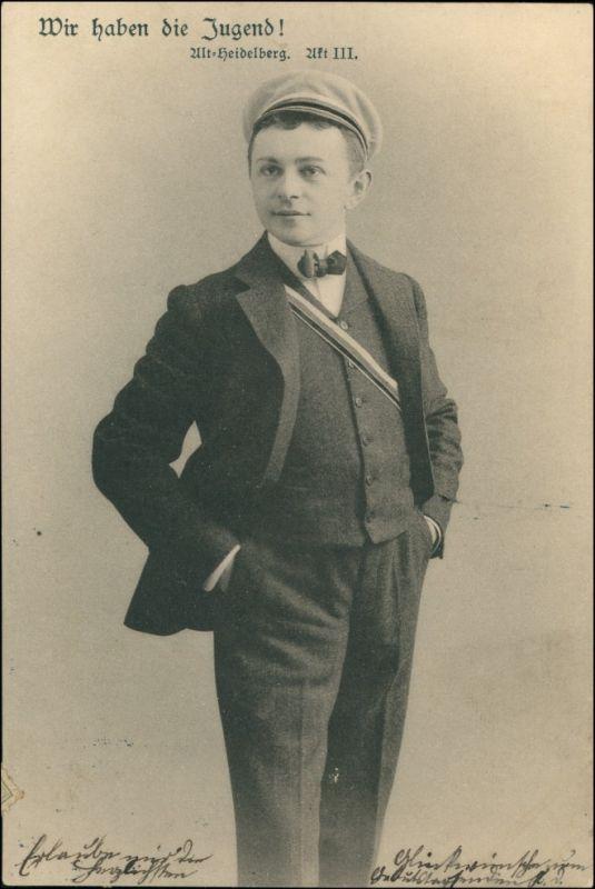 Ansichtskarte  Alt Heidelberg - wir haben die Jugend 1903