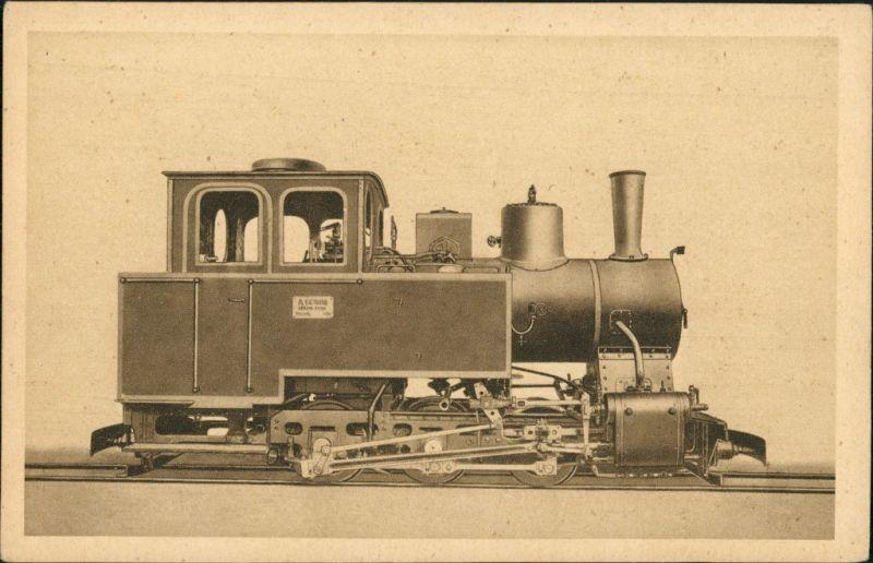 Naßdampf Tendelokomotive Borsig Berlin Tegel  Eisenbahn/Zug 1922