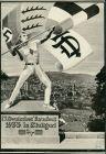 Stuttgart Künstlerkarte Propaganda 15. Deutches Turnfest 22.-30. Juli 1933 1933