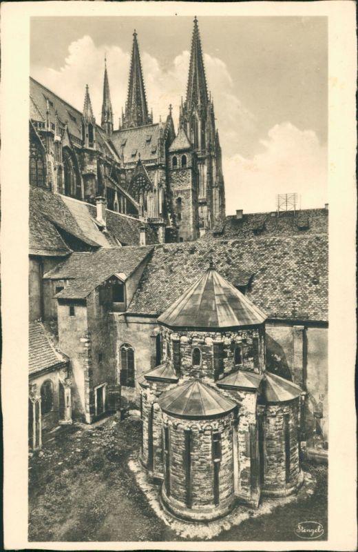 Regensburg Dom und Allerheiligenkapelle, Kapelle, AK ungelaufen 1930
