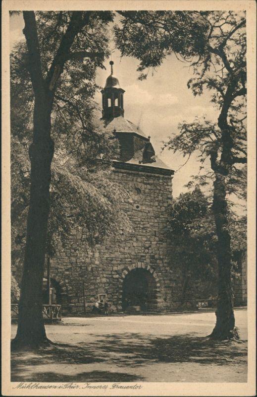 Mühlhausen (Thüringen) Stadtteilansicht, Partie Inneres Frauentor, Tor-Durchgang 1920
