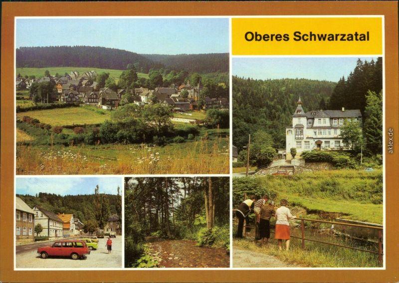Ansichtskarte Oberes Schwarzatal: Katzhütte, Blechhammer, Scheibe-Alsbach 1986
