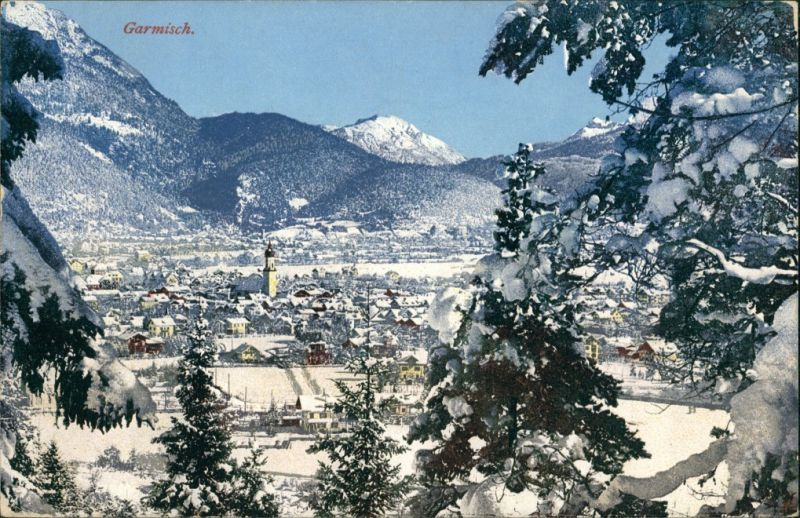 Garmisch-Garmisch-Partenkirchen Winter Landschaft   Garmisch 1910