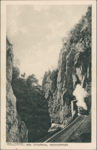 Hirschsprung-Breitnau Höllental Schwarzwald, Eisenbahn  Hirschsprung 1920