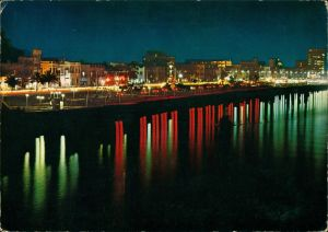 Bagdad بغداد IRAQ - Baghdad - Abu Nuwas Street/Abend-/Nachtaufnahme 1982