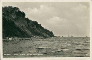 Ansichtskarte Neustadt (Holstein) Hohes Ufer, Pelzerhaken, Stadt 1933