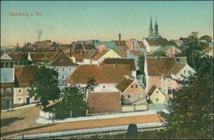 Ansichtskarte Radeberg Blick über die Dächer der Stadt 1923