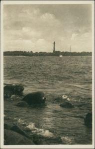 Osternothafen (Ostswine)-Swinemünde Warszów Świnoujście Leuchtturm von der Mole 1939