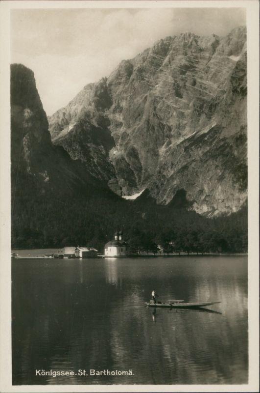 Schönau am Königssee St. Bartholomä am Königssee mit Berg Panorama 1930