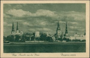 Postcard Riga Rīga Ри́га Blick auf die Stadt 1930