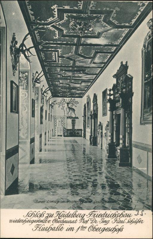 Ansichtskarte Heidelberg Schloss Friedrichsbau Flurhalle 1. OG 1906