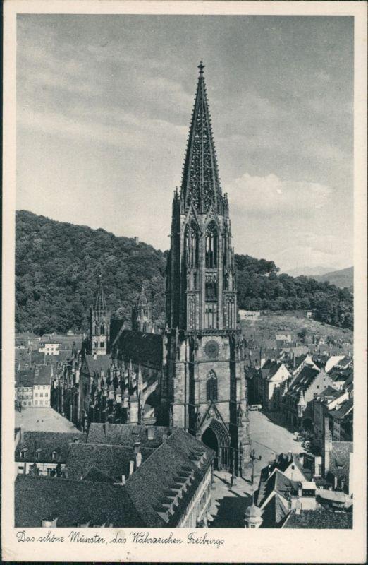 Ansichtskarte Freiburg im Breisgau Münster - das Wahrzeichen der Stadt 1930