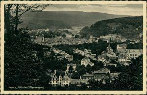 Hannoversch Münden Hann. Münden Panorama-Ansicht, Vogelschau-Perspektive 1930