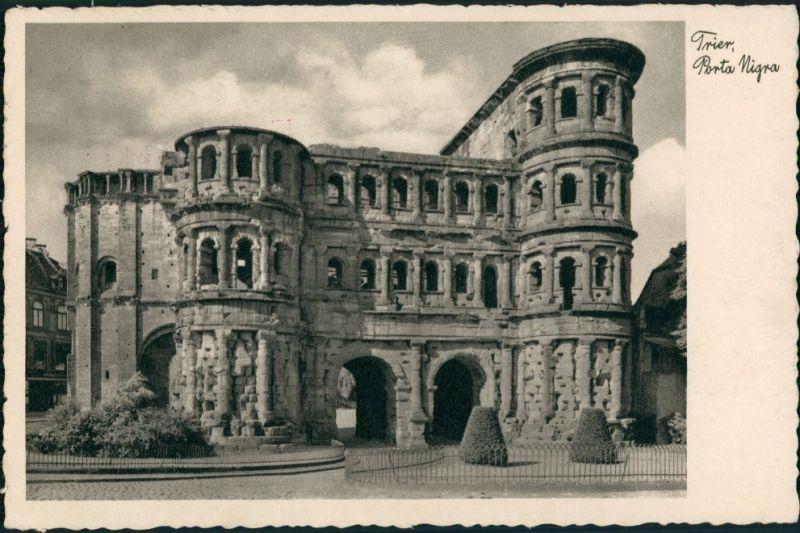 Trier Porta Nigra, Römisches Stadttor, AK mit Nachgebühr-Stempel 1935