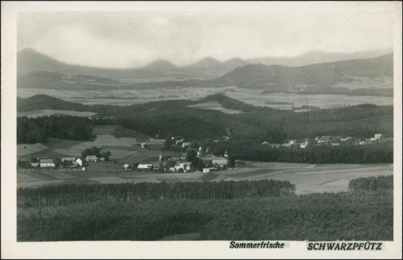 Schwarzpfütz-Ringelshain Černá Louže Rynoltice Blick auf die Stadt 1930