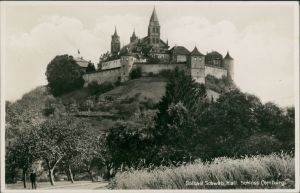 Ansichtskarte Schwäbisch Hall Baum Allee zum Schloss Comburg 1940