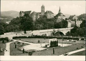 Postcard Elbogen (Eger) Loket Hrad Loket - Burg Elbogen mit Brücke 1960