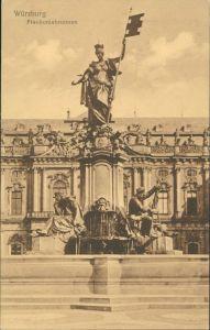 Ansichtskarte Würzburg Würzburg Frankoniabrunnen, Brunnen, Denkmal 1917