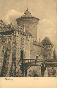 Ansichtskarte Nürnberg Frauentor, Burgbrücke, Eingangsbereich 1910