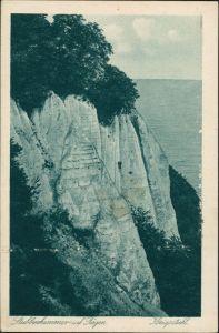 Stubbenkammer-Sassnitz Königsstuhl Stubbenkammer Insel Rügen Felsen 1925
