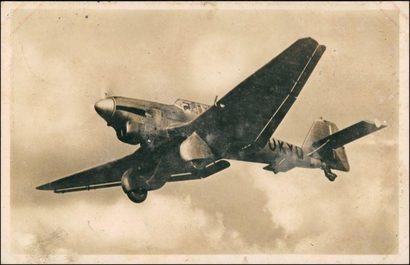 Ansichtskarte  Sturzbomber Junkers Ju 87 1940
