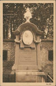 Ansichtskarte Weimar Grabstätte der Frau von Stein, Grabmal, Denkmal 1910