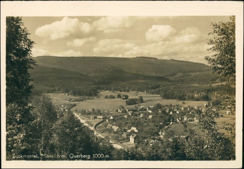 Postcard Zuckmantel Zlaté Hory Stadtblick 1930