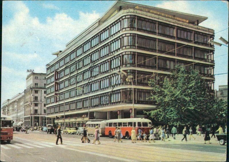 Postcard Warschau Warszawa Jerozolimskie-Allee/Aleje Jerozolimskie 1954