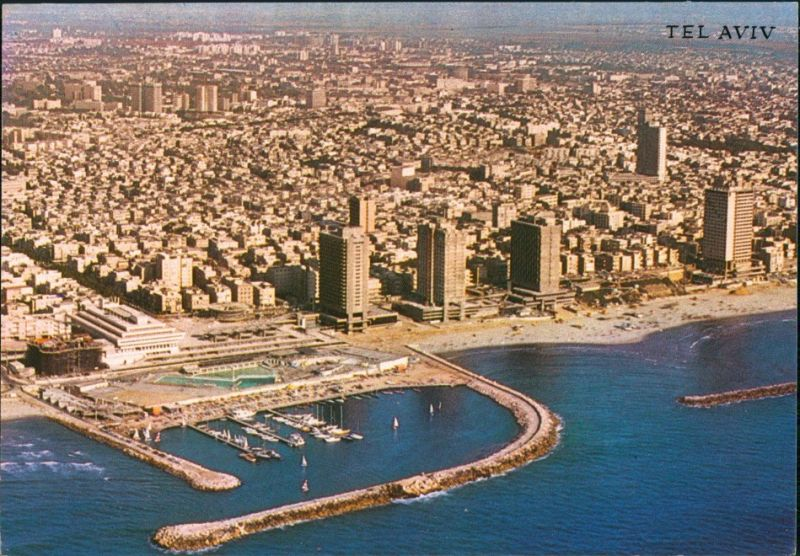 Tel Aviv-Jaffa תל אביב-יפו Tel Aviv-Jafo Luftaufnahme Luftbild 1976