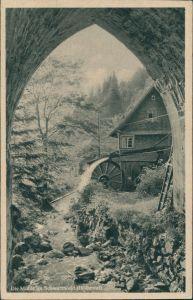 Ansichtskarte Hirschsprung-Breitnau Höllental Schwarzwald Wassermühle 1955