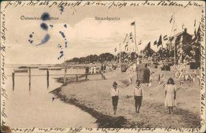 Ansichtskarte Laboe Strandleben - Pavillon 1912