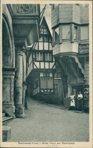 Ansichtskarte Bernkastel-Kues Berncastel-Cues Marktplatz, Geshäft 1928