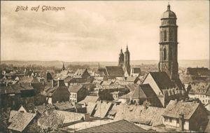 Ansichtskarte Göttingen Blick über die Dächer der Stadt 1912