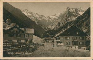 Spielmannsau-Oberstdorf (Allgäu) Allgäu Dorf Ansicht mit Privathäusern 1920