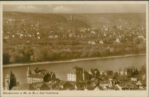 Königswinter Panorama-Ansicht Rhein Blick nach Bad Godesberg 1930
