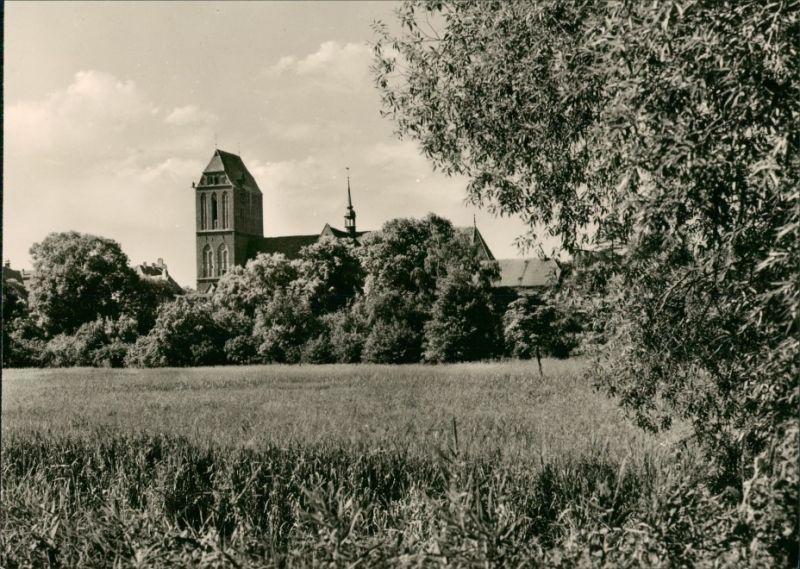 Ansichtskarte Güstrow Blick zum Dom 1977
