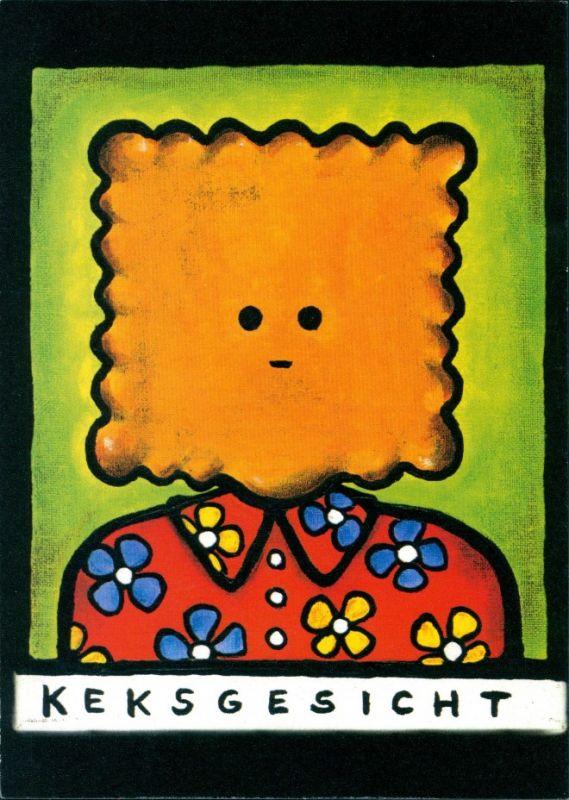 Ansichtskarte  Scherzkarten - Keksgesicht 2004