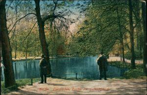 Ansichtskarte Tiergarten-Berlin Tiergarten, Am Goldfischteich 1917