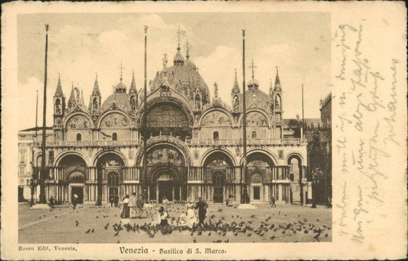Cartoline Venedig Venezia Markusdom (Basilica di San Marco) 1906