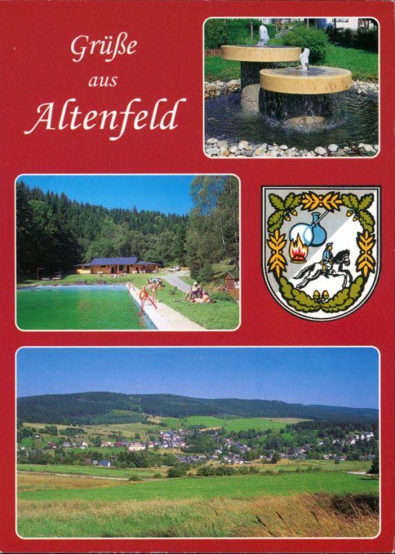 Altenfeld (Thüringen) Thüringer Wald Motive, Rennsteig, Mehrbild-AK 2000
